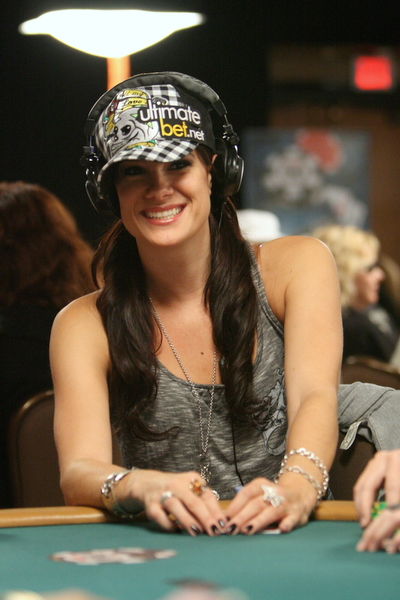 Tiffany Michelle playing Texas hold\'em