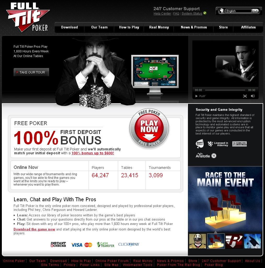FullTilt.com Website
