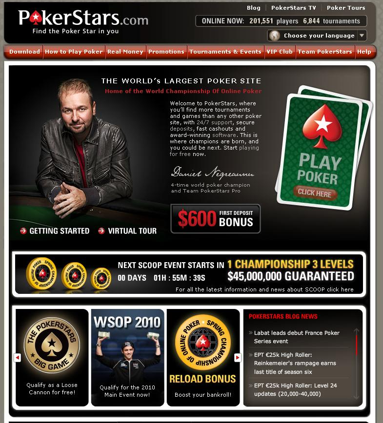 PokerStar.com Website