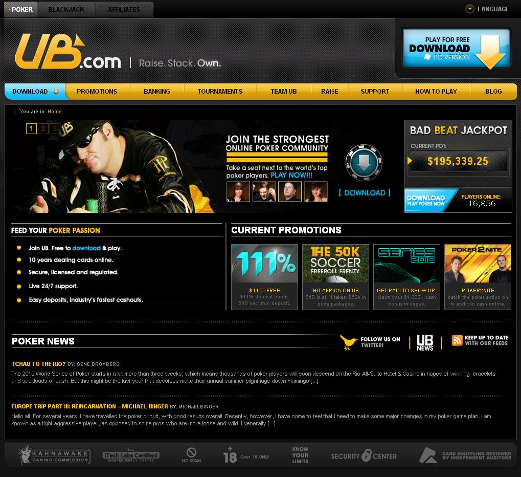 UltimateBet.com Website